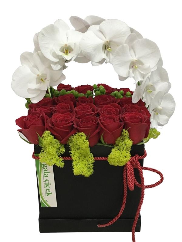 Kutuda Orkide ve Güller