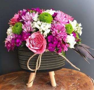 Butik ve renkli çiçekler