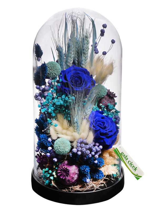 Mavi Aşk (şoklanmış güller)